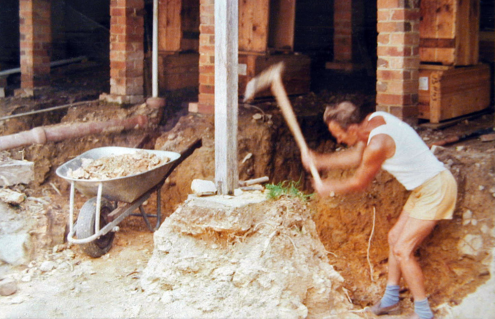 Luke Skywalker's father knew the power of the dark side, but my father knew the power of the spade. He spent two full-time years years working like a convict to dig out enough rock and soil for the basement of our home extensions, almost entirely using simple non-powered hand tools. He even built the wheelbarrow.