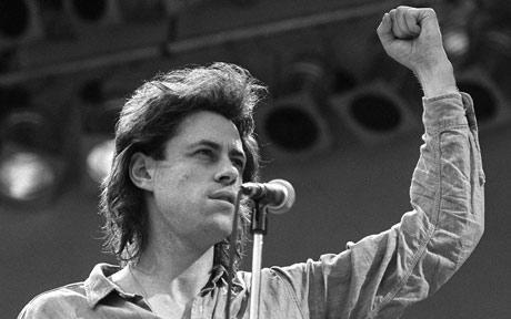 Bob Geldof at the Live Aid Concert, 13 July 1985.