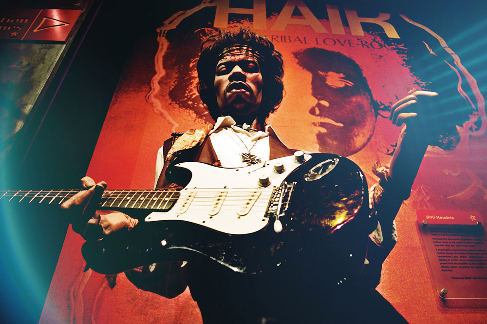 Widely regarded as the greatest rock guitarist of all time, Jimi Hendrix lived in poverty and slum accommodation most of his life. His first recording failed to chart. Born in 1942, he was still struggling to earn a living wage from music in May 1966. He became famous in 1967, and died in 1970.