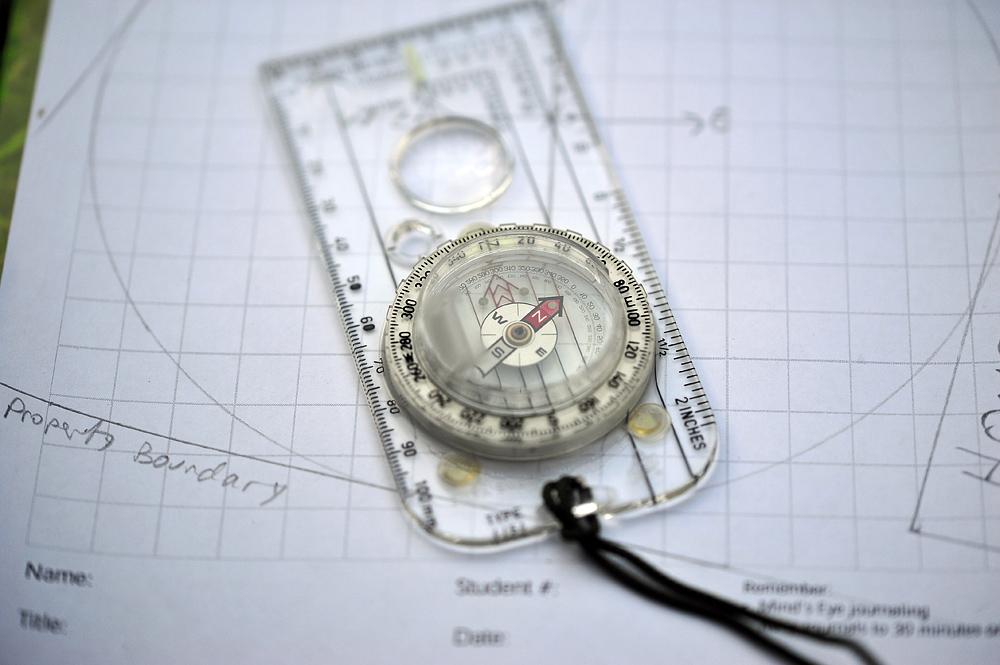 Using the Silva Expedition 54 Compass to draw up a map of your area.